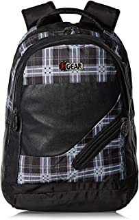 Teen Ages F Gear Gray School Backpack for Boys - Black