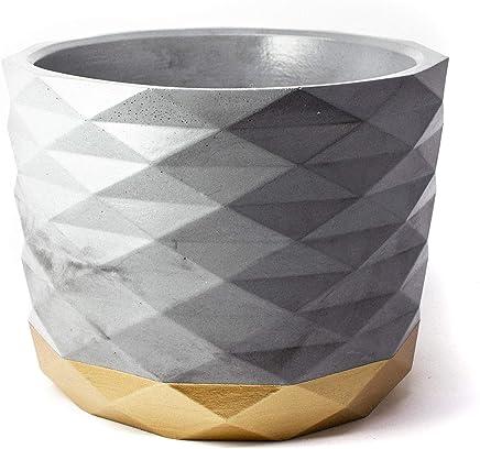 Concrete Archimedes Planter: Gold