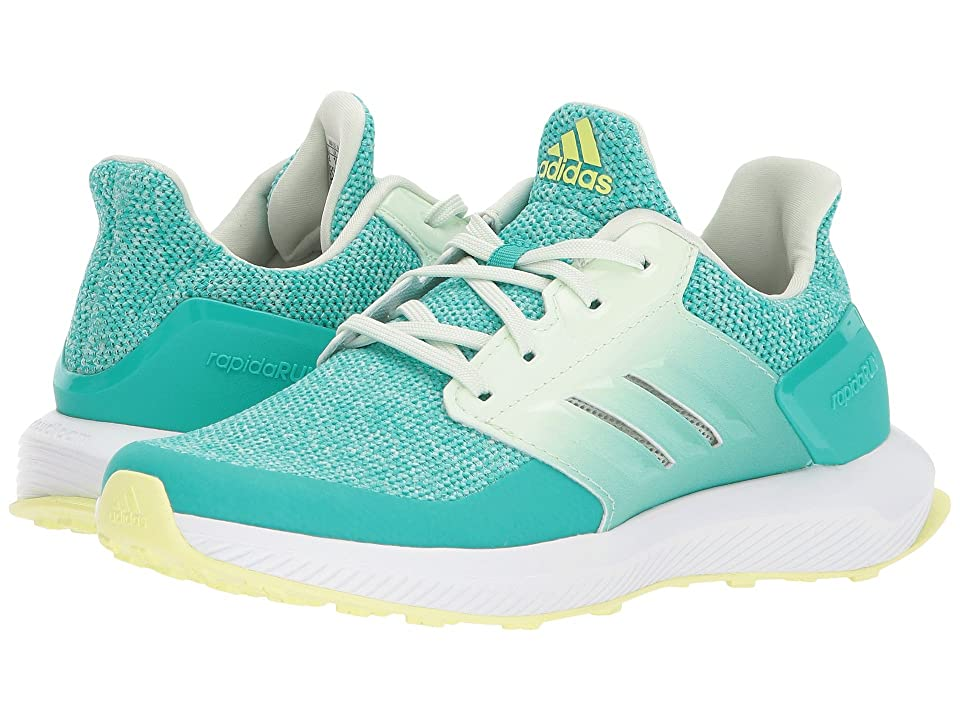adidas Kids RapidaRun (Little Kid/Big Kid) (Shock Mint/Aero Green) Girls Shoes