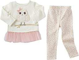 Mud Pie - Leopard Owl Tunic & Leggings Set (Infant/Toddler)