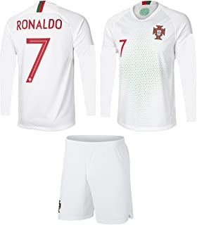 Portugal Cristiano Ronaldo #7 Soccer Jersey and Shorts Kids Youth Sizes Home and Away Football World Cup Premium Gift