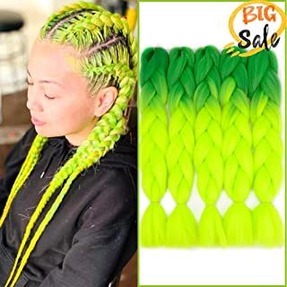 NAISIER Ombre Jumbo Braiding Hair Extension Synthetic Kanekalon Braiding Hair for Twist,Crochet Jumbo Box Braiding Hair,5 Pcs,24