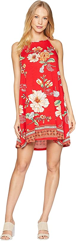 Strappy Print Knit Dress