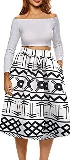 Best black and white african skirt Reviews