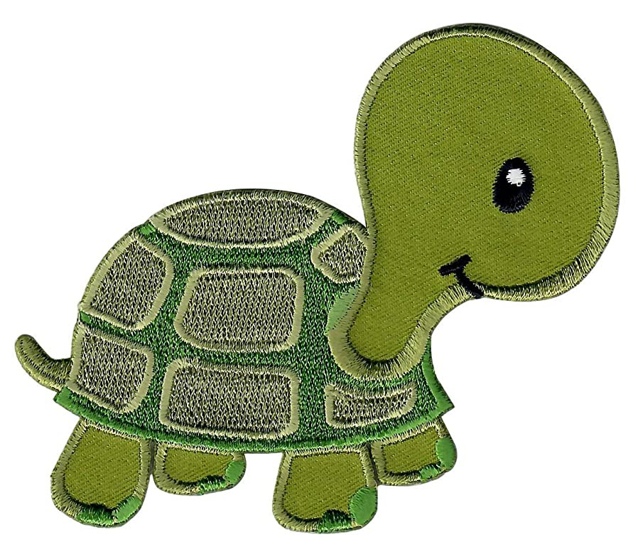 PatchMommy Iron On Patch, Turtle - Appliques for Kids Children