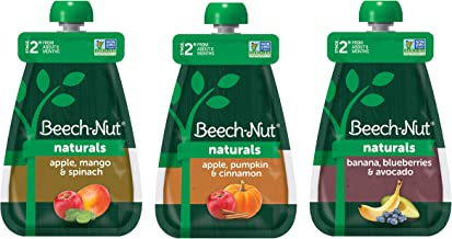 Beech-Nut Naturals Stage 2 Baby Food Pouches Variety Pack (18 count, 3.5 oz pouches)