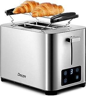 Grille Pain Decen 7 Niveaux de Brunissage, Affichage LCD, 2 Large Fente Toaster Vintage, Tiroir à miettes Amovible, Nettoy...