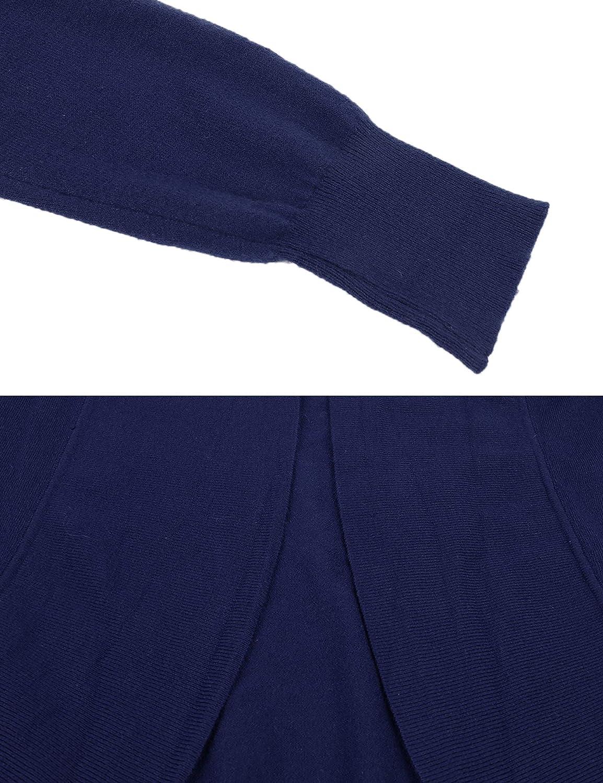 iClosam Womens Cardigans Lightweight Long Sleeve Waterfall Open Front Drape Hem Long Sweater Cardigan S-XXL