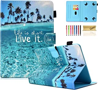 """Universal Case for 6.5-7.5 Inch Tablet, Casii Slim Protective Kickstand Wallet Cover with Card Slots for All 6.5"""" - 7.5"""" S..."""