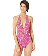 Etro - Floral Paisley Halter One-Piece