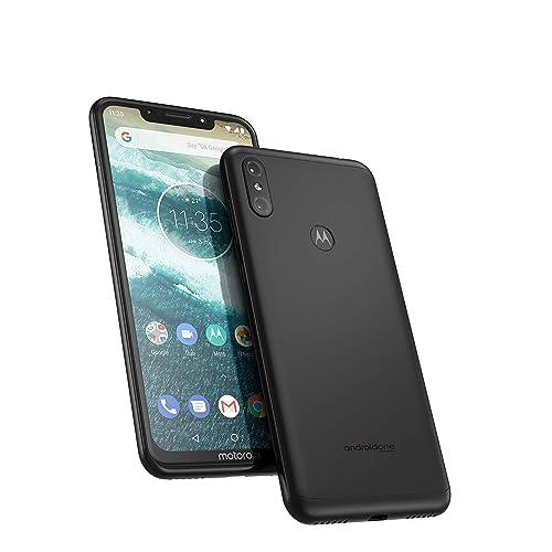 Motorola One 64 GB 5.9 Inch Android One Android 8.1 UK Sim-Free Smartphone with 4 GB RAM and 64 GB Storage (Dual Sim), Ceramic Black