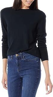 Daily Ritual Women's Fine Gauge Stretch Crewneck Pullover Sweater