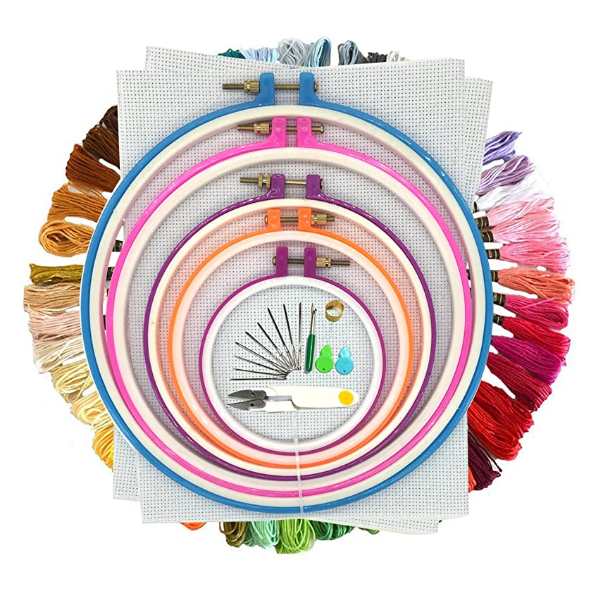 Cotton Embroidery Thread, Wartoon Cotton Embroidery Floss Sewing Thread Set for Cross Stitch (Multi)