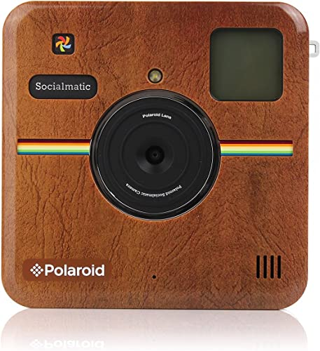 new arrival Polaroid Custom Designed Front lowest Plate for Polaroid Socialmatic - Matte Brown 2021 Leather Look online