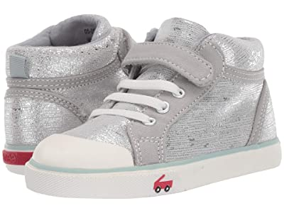 See Kai Run Kids Peyton (Toddler/Little Kid) (Silver Leather) Girls Shoes