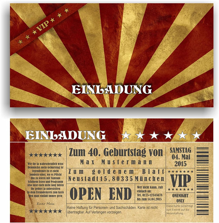 Einladung Geburtstag VIP Eintrittskarte Ticket Karte Einladungskarten Vintage (60 (60 (60 Stück) B06XBWRNJN   Spielzeugwelt, spielen Sie Ihre eigene Welt  808c54