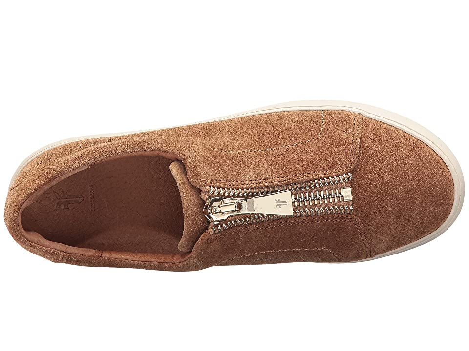 Frye Lena Zip Low (Tan Soft Oiled Suede) Women's Lace up casual Shoes, Brown