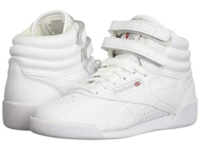 Reebok Kids Freestyle Hi (Little Kid) (White) Kids Shoes