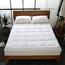 King Size Mattress Pad Topper Polyester White 200x200+35cm