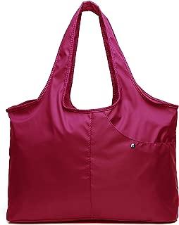 Nylon Tote Bag for Women Ladies Waterproof Canvas Diaper Shoulder Bag Lightweight Handbags for Travel Work Shopping