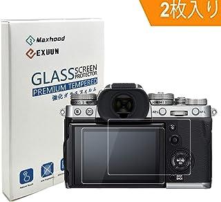 Poyiccot (2枚入り) FUJIFILM X-T3 強化ガラススクリーンプロテクター、9H硬度0.3mm 超薄型液晶カバー強化ガラス保護フィルム (X-T1 X-T2 X-T3)