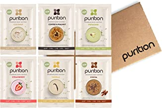Purition Vegan Trial Box Premium Dairy Free High Protein Powder for Keto Shakes and Smoothies with Only Natural Ingredients for Weight Loss 6 x 40g sachets Estimated Price : £ 12,99