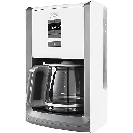 Beko CFD6151W Digital Display Sense Filter Coffee Machine, 1000 W, White: Amazon.co.uk: Kitchen & Home