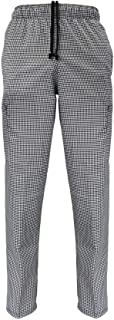 Natural Uniforms Classic Houndstooth 6 Pocket Chef Pants with Multi-Pack Quantities Available
