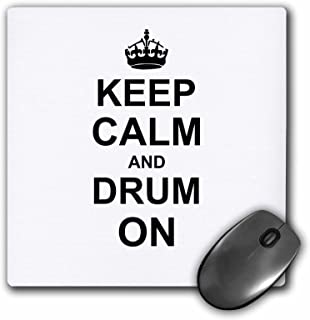 3dRose 3dRose 8 x 8 x 0 25 Inches Keep Calm and Drum on carry on Drumming Gift for Drummer Percussionist Musicians Funny H...