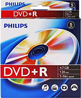Philips DVD+R 16x Logo Top in 5pk peggable Box