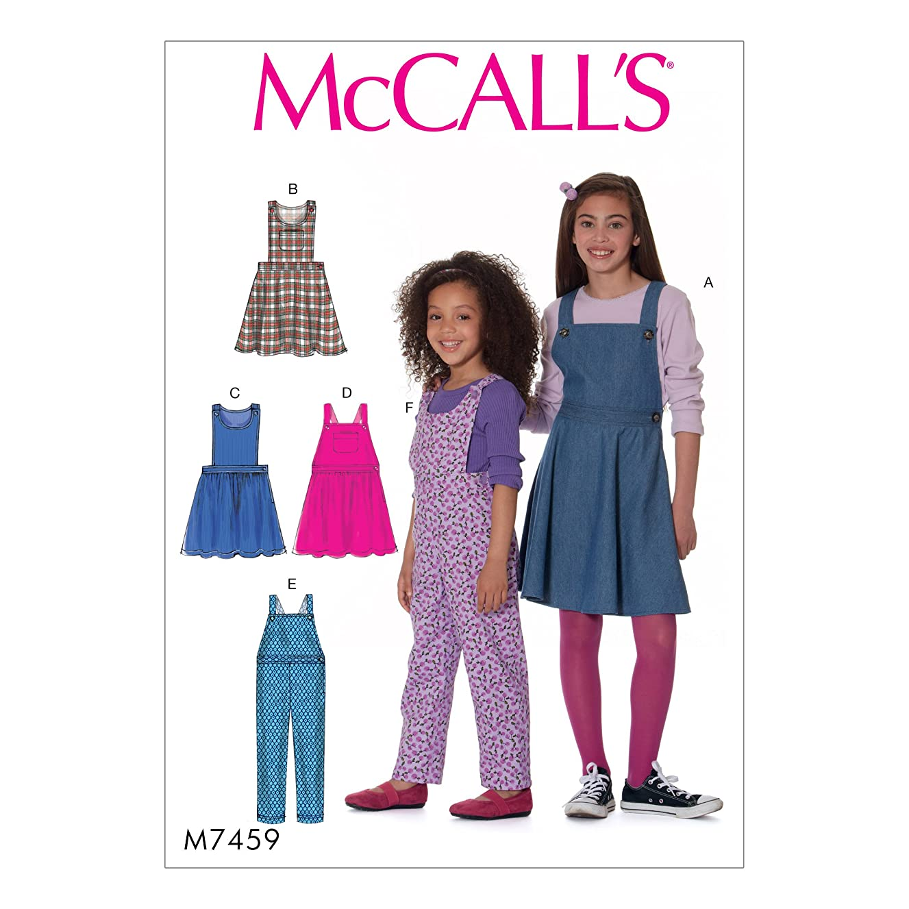 McCall's Patterns M7459CHJ Children's/Girls' Jumpers and Overalls