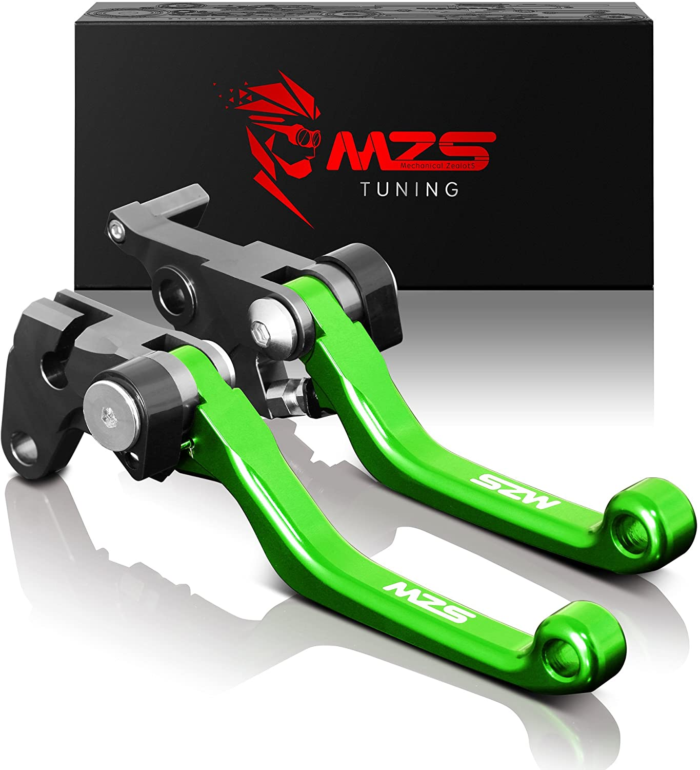MZS Pivot Levers Clutch Department store Brake CNC K KX250F Max 90% OFF Green with Compatible