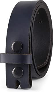"""Belt for Buckles 100% Top Grain One Piece Leather, 1.25"""" Wide, Made in USA"""