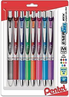 Pentel EnerGel RTX Retractable Liquid Gel Pen, Medium Line, Metal Tip, Assorted Ink,..