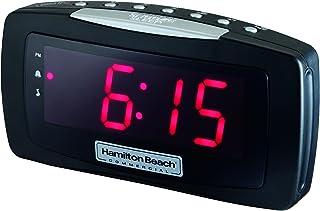 Hamilton Beach Commercial Hospitality Clock Radio Alarm Clock with Large Display and Snooze Button HCR330 by Hamilton Beach, Black