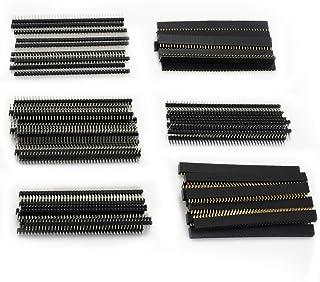 Aussel 60 Stück Weg PCB Board 40Pin männlich weiblich und rechtwinklig Header Connector (5,UKPIN 6 60PCS)