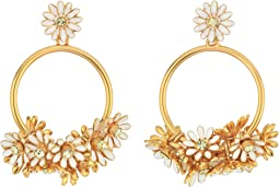 Kate Spade New York Loves Me Loves Me Not Drop Hoop Earrings