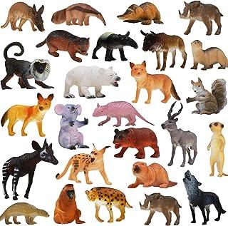 Animals Figure, 25 Piece Realistic Looking Animals Toys Set(4 inch), ValeforToy Jungle Wild Vinyl Plastic Animal Learning ...