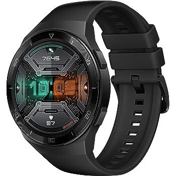 HUAWEI Watch GT 2e Smartwatch (SpO2-Monitoring,Herzfrequenz-Messung,Musik Wiedergabe,GPS,Fitness Tracker,5ATM wasserdicht) graphite black [Exklusiv+5 EUR Amazon Gutschein]