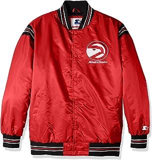 STARTER Adult Men The Enforcer Retro Satin Jacket LSY40240, Red, 5X