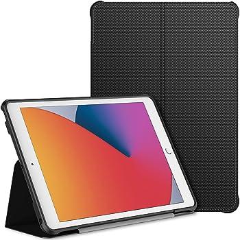 JETech Funda Compatible iPad 8 / 7 (10,2 Pulgadas, 2020 / 2019 Modelo, 8ª / 7ª Generación), Soporte de Doble Plegables y Contraportada de TPU a Prueba de Choques, Auto-Sueño/Estela, Negro
