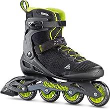 Rollerblade Zetrablade Elite Men's Adult Fitness Inline Skate, Black and Lime, Performance Inline Skates