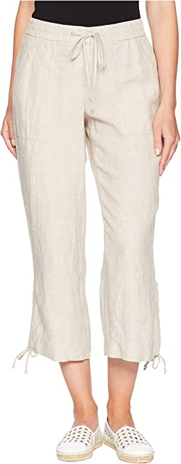 Linen Easy Crop Pants w/ Ties