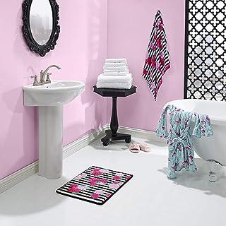 Betsey Johnson Flower Stripe 3 Piece Towel Set, 52x27, Medium Pink
