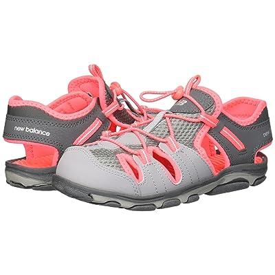 New Balance Kids Adirondack Sandal (Toddler/Little Kid) (Grey/Coral) Girls Shoes