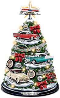 The Bradford Exchange Chevrolet Bel Air Tabletop Christmas Tree with Revving Engine Sound: Lights Up
