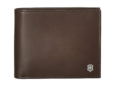 Victorinox Altius Edge Fermat Bifold Wallet w/ Passcase RFID (Dark Earth Leather) Bi-fold Wallet