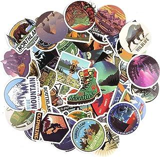 HOWAF Voyage Vinyles Graffiti Autocollant Stickers Pack Lot de 100 pour Ordinateur Voiture Moto Portable Bagage Hippie Ska...
