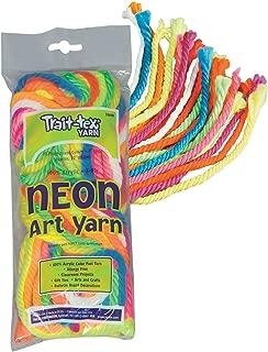 Pacon PAC52610 Trait-tex Art Yarn, 10 Strands, 50', Fluorescent Colors
