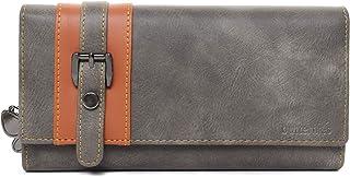 Butterflies Grey & Tan PU Women's Wallet (BNS 2456GY)